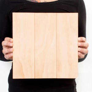 10.5 x 10.5 Custom Planked Wood Print