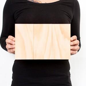 10.5 x 6.75 Custom Planked Wood Print