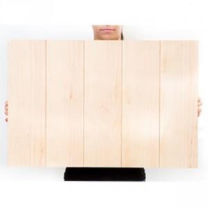 27.5 x 18.5 Custom Planked Wood Print
