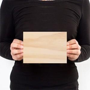 7 x 5 Custom Solid Wood Print