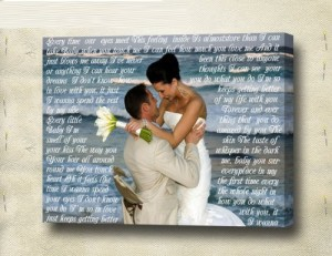 Custom Canvas Vows
