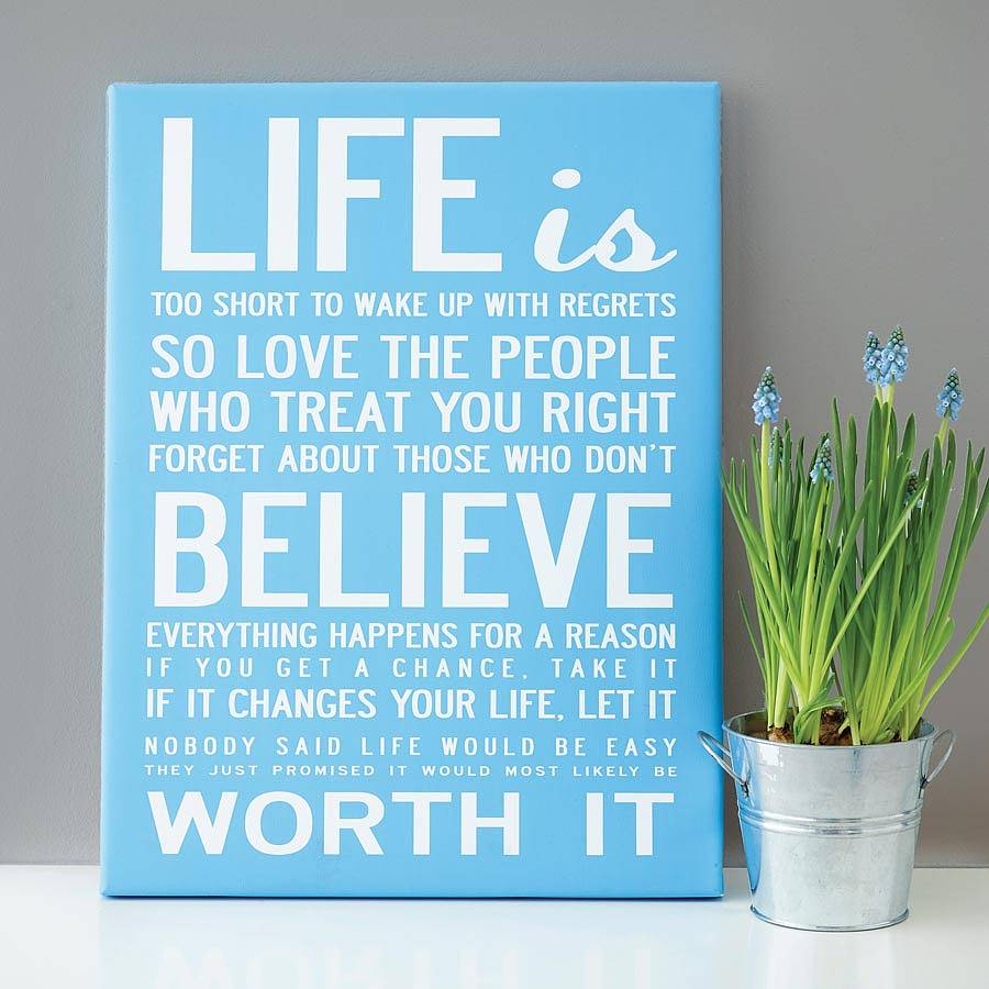 Life Canvas Quote Magnificent Make Your Own Quote Print  Makecanvasprints