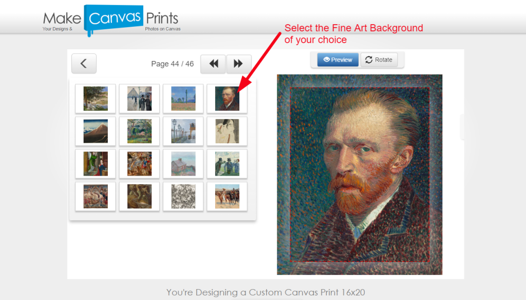 3 Design_Select Fine Art Background to Use