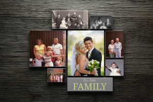 Custom Family Photo Canvas Collage